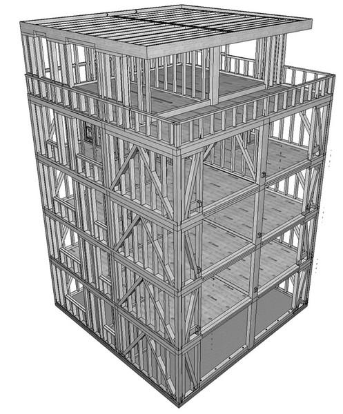 FNR Foerderung mehrgeschoss. Bauen mit Holz 5 geschosser klein